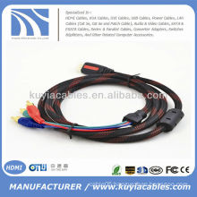 Competitive price Gold-plated HDMI to 3RCA Cable male to male