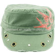 Grinding Washed Grommet Rivet Decoration Embroidery Army Military Cap (CSCM9452)