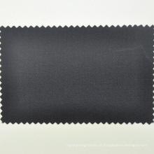 Pano de lycra de lã italiana pano de sarja de smoking preto pelo medidor para feito à medida