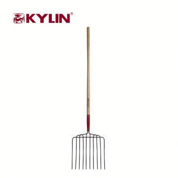 Forquilha de escavação do aço de carbono do estrume das ferramentas de jardinagem do fornecedor da fábrica
