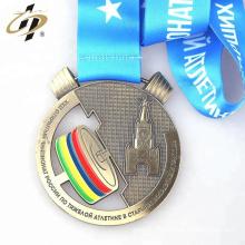 Vente chaude personnalisée votre propre conception médaille de métal d'haltérophilie