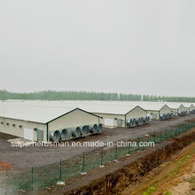Светлая стальная структура строительства птицефабрики с производства оборудования
