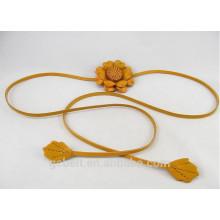 1.0cm кожаный пояс цветок способа для ткани женщины