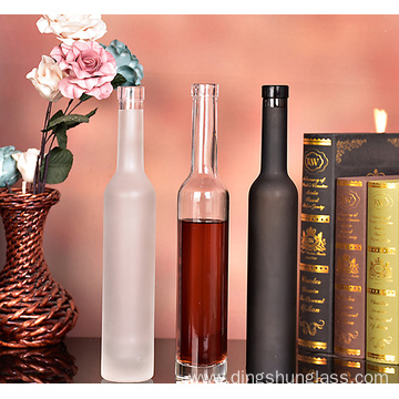 Empty bottles of high-end grape wine bottles