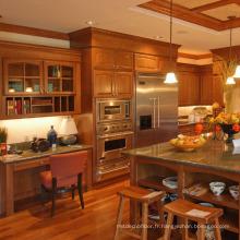 Conceptions d'armoires de cuisine en bois massif cerisier