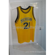 Sporting Produkte Einzelhandel Store Custom Wandhalterung Locking Clear Acryl T-Shirt Jersey Display Fall
