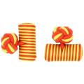 Benutzerdefinierte elastische Zylinder Seide Knoten Manschettenknöpfe