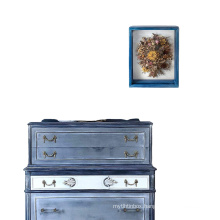 wholesale custom 9x11 Blue Weathered Rustic Wood Memory Trinket Shadow Box picture Frame  Display Case with Soft Linen Back