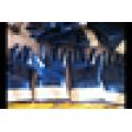 Malha azul nitrilo mergulhado luvas