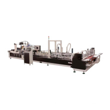 Cheap price cardboard automatic 4 corner box folding gluing machine