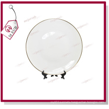 8′′ Ceramic Plate with Golden Rims for Sublimation