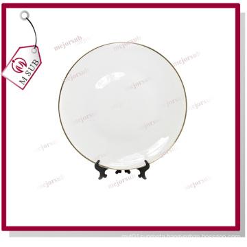 12′′ Ceramic Plate with Golden Rim