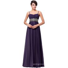 Kate Kasin Full-Length Spaghetti Straps Chiffon Long Dark Purple Evening Prom Party Dress 8 Size US 2~16 KK000184-2