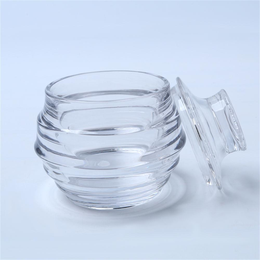 Br 1814honeycomb Glass Candy Jar