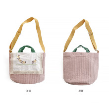 New Lovely  Type Lady Small Cotton Cloth bag Antique Style Canvas Cross Bag Bucket Shoulder bag