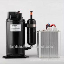 R134A DC 12V mini freon bldc compressor for refrigerator HB075Z12 for solar car 5000 btu air conditioner