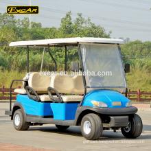 EXCAR 6 passengers cheap electric golf cart golf car for sale china mini bus