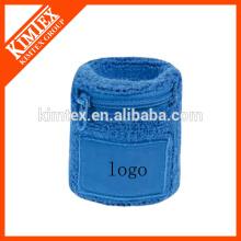 Fashion terry cotton custom wholesale sport zipper wristband
