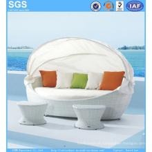 Resort Hotel Leisure Furniture White Rattan Daybed