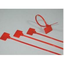 Красные нейлоновые кабельные стяжки с маркером PA66
