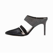 Pointed-toe Pump Featuring Narrow Vamp Strap and Shallow Heel Cup