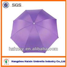 Einfarbige Pongee faltbaren Portable Art Sonnenschirm Regenschirm