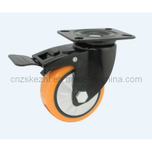 Mh1 Med-Heavy Duty Type de frein Double roulement à billes Black PU Roulette Roulette