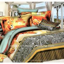Hot Sales 100% Polyester 3D Animal Pigment Printed Bedding Set