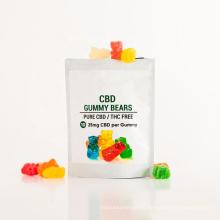 100% vegan THC free CBD gummy bear infused full spectrum CBD Gummies 10mg