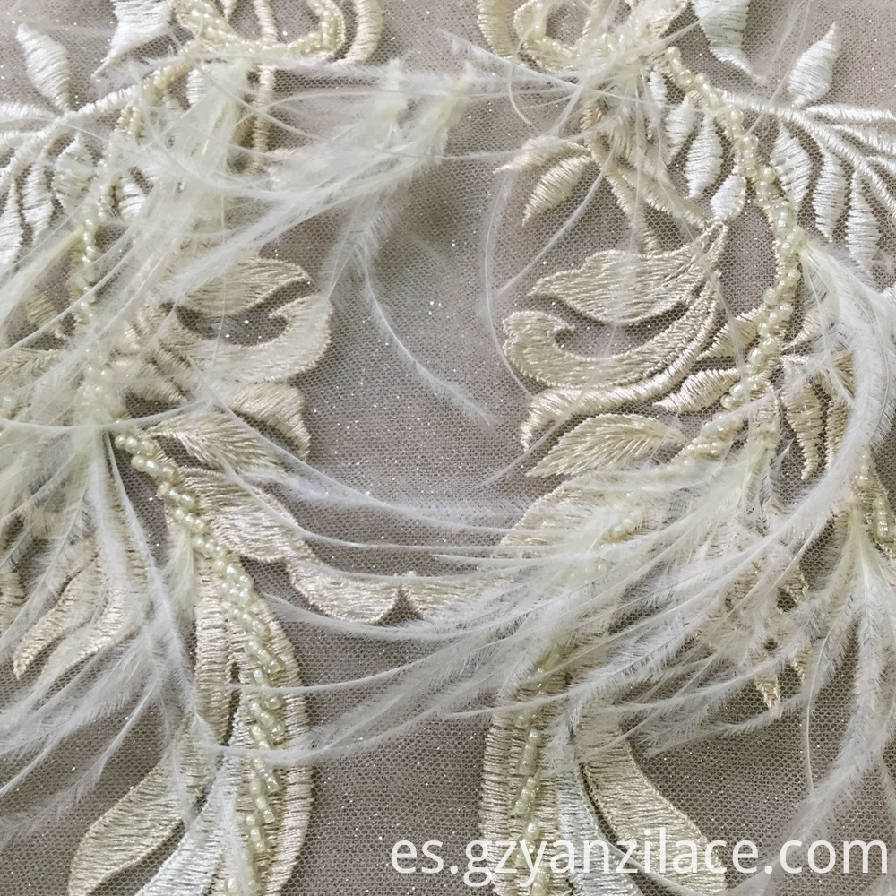 Lace Fabric Embroidery Beaded