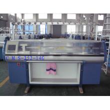 Máquina de confecção de malhas do jacquard do sistema 14G dobro com dispositivo do pente