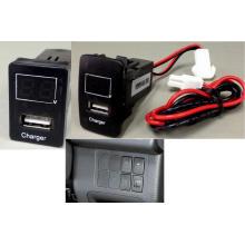 12V-24V Car USB Charger Socket Voltage Meter for Honda/Toyota