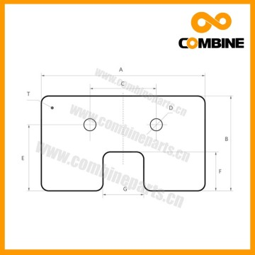 Agriculture Machinery Rubber Paddle