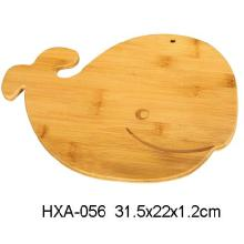 Novelty Bamboo Cutting Board With Whale Shape