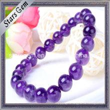 Natural 7mm to 11mm Amethyst Beads Bracelet