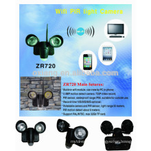 720P video record and 5.0 solar motion sensor security light with wifi function