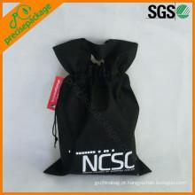 barato não tecido segurou o mini saco do armazenamento do cordão do estilo