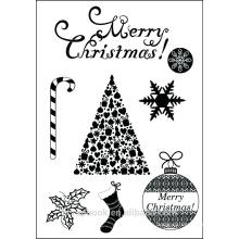 Weihnachten Art klare Stempel für Sammelalbum