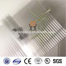 100% VIRGIN Bayer PC sistema U-LOCK hoja de policarbonato hueco