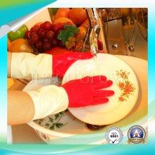 Gants de latex imperméables pour le lavage avec bonne qualité