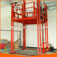 hydraulic guide rail electric floor lift for warehouse