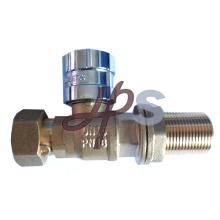 Robinet à tournant sphérique verrouillable magnétique en laiton pour le tuyau de HDPE