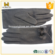 Gants personnalisés à laine à laine longue Gants mignés en laine d'hiver pour les filles