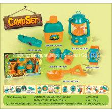 Boutique Playhouse Plastic Toy-Camping Set com 6 Acessórios Três