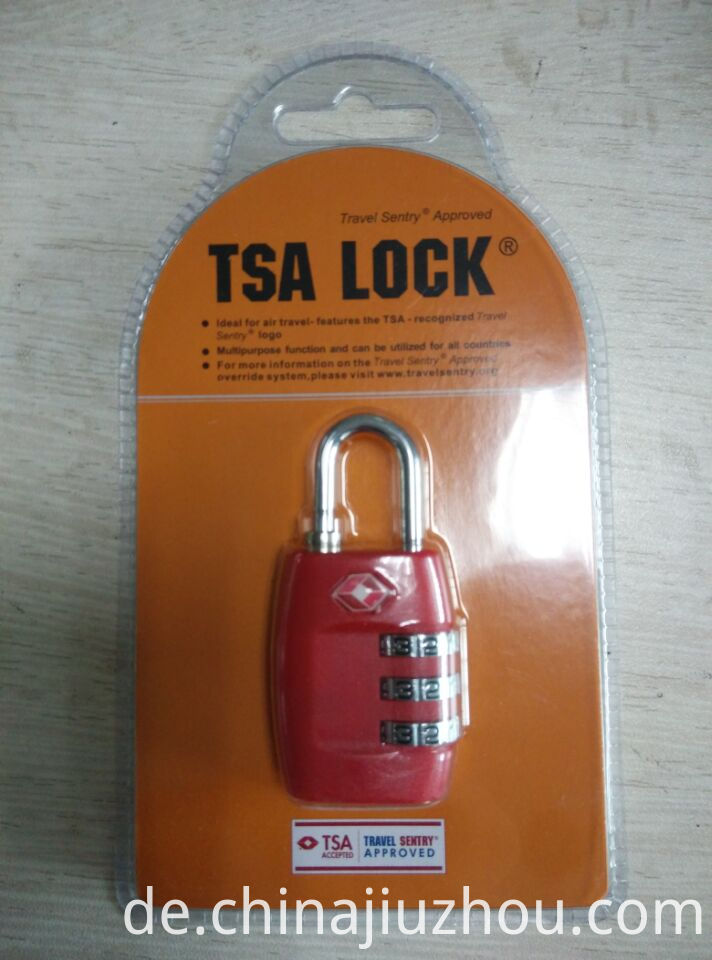 TSA Lock Double Blister Packing