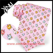 Diseños personalizados Custom Print Silk Tie