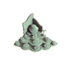 Fabricant exclusif de stand de bijoux en bois de Leatherette (WST-WL-T)