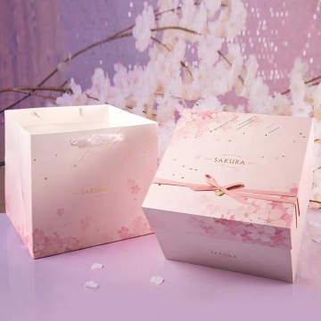 Double Layer Pink Gift Paper Box