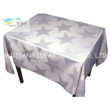 Polyester Printed Satin Fabric Coated Teflon For Table Cloth
