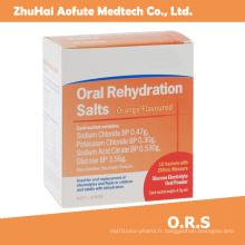 Sel de réhydratation orale à haute qualité et à chaud